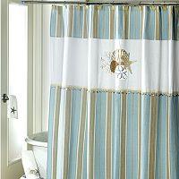 Avanti By the Sea Fabric Shower Curtain