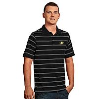Men's Anaheim Ducks Deluxe Striped Desert Dry Xtra-Lite Performance Polo