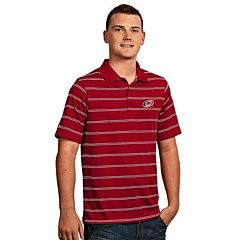Men's Carolina Hurricanes Deluxe Striped Desert Dry Xtra-Lite Performance Polo