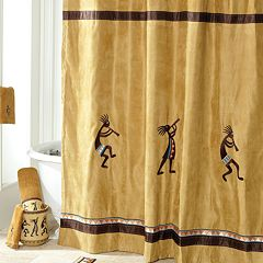 Avanti Kokopelli Fabric Shower Curtain