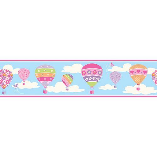 Balloons Blue Peel & Stick Wall Decal Border