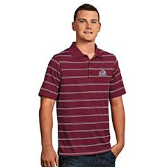 Men's Colorado Avalanche Deluxe Striped Desert Dry Xtra-Lite Performance Polo