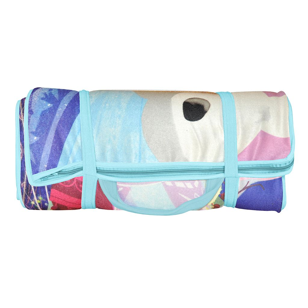 Disney's Frozen Anna, Elsa & Olaf Memory Foam Travel Sleeping Bag