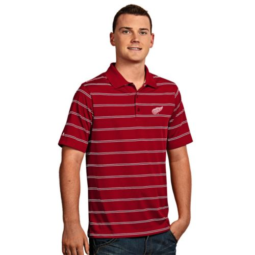 Men's Detroit Red Wings Deluxe Striped Desert Dry Xtra-Lite Performance Polo