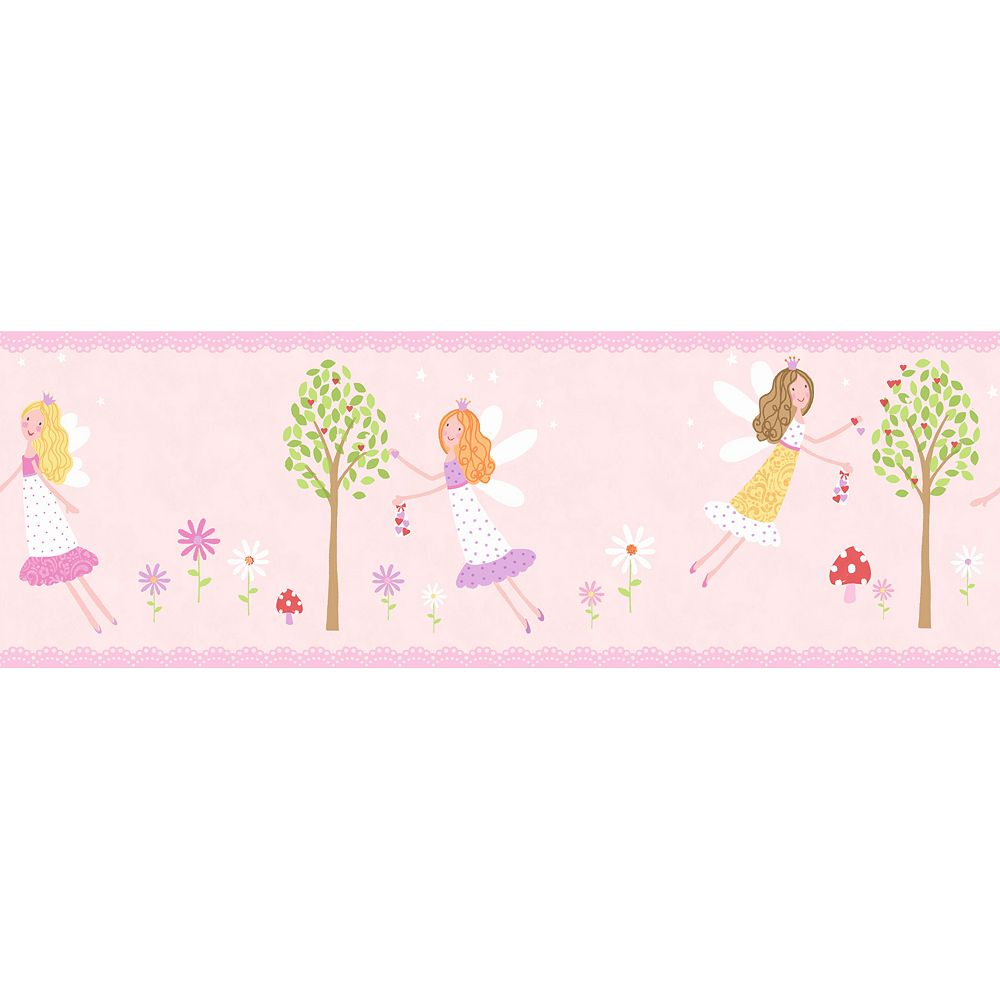 Fairy Garden Peel & Stick Wall Decal Border