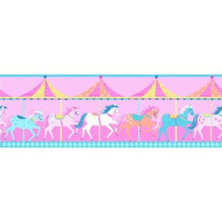 Carousel Peel and Stick Wall Decal Border