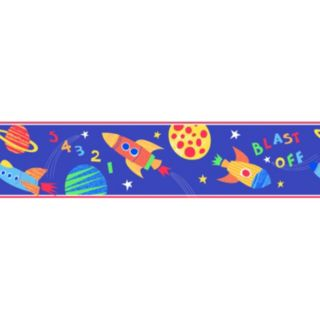 Blast Off Peel and Stick Wall Decal Border