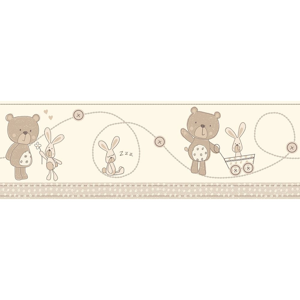 Bear And Boo Peel & Stick Wall Decal Border
