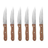 Cuisinart Walnut Triple Rivet 6 pc Steak Knife Set