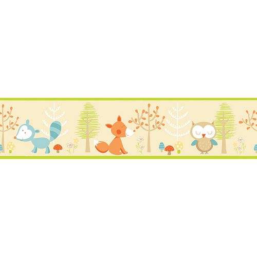 Forest Friends Multi Peel & Stick Wall Decal Border