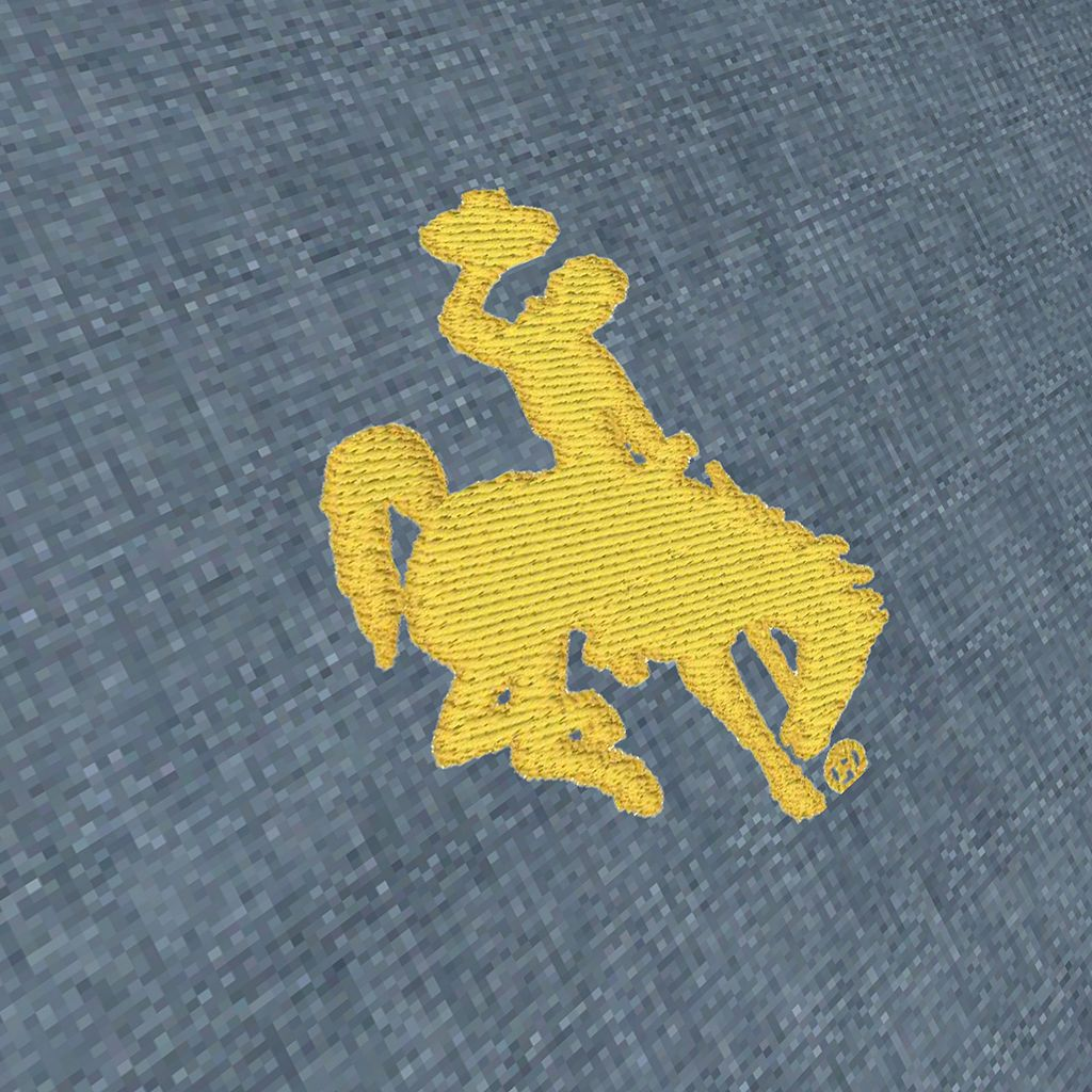Men's Antigua Wyoming Cowboys Chambray Button-Down Shirt