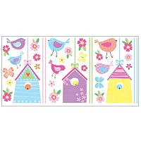 Bird Houses Peel & Stick Wall Decals