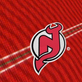 Men's New Jersey Devils Deluxe Striped Desert Dry Xtra-Lite Performance Polo