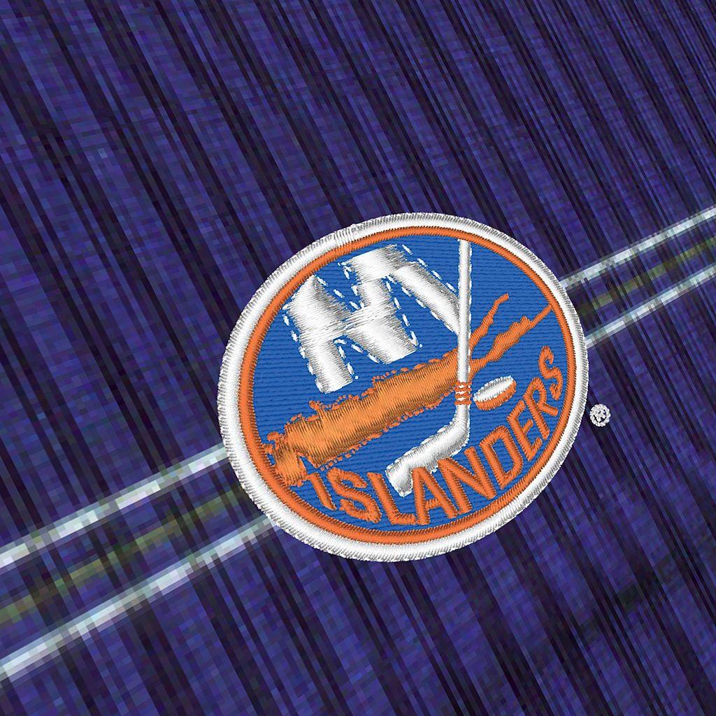 Men's New York Islanders Deluxe Striped Desert Dry Xtra-Lite Performance Polo