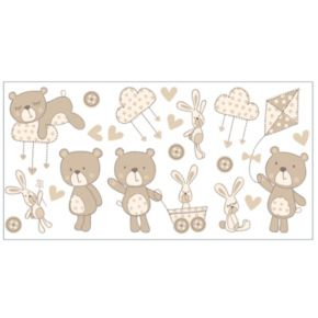 Bear and Boo Peel and Stick Wall Decals
