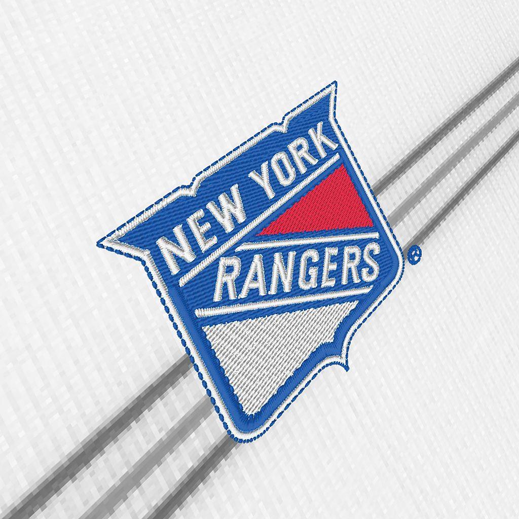 Men's New York Rangers Deluxe Striped Desert Dry Xtra-Lite Performance Polo