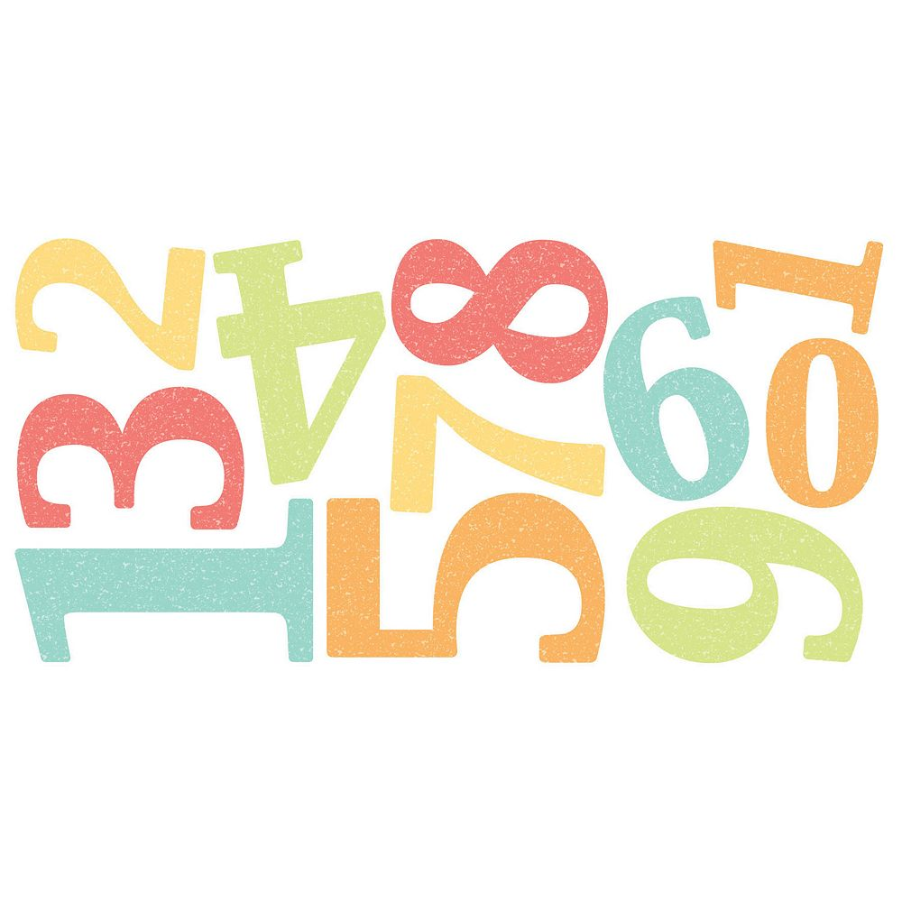 Number Peel & Stick Wall Decals
