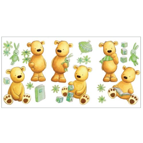 Teddy Bear Peel and Stick Wall Decals