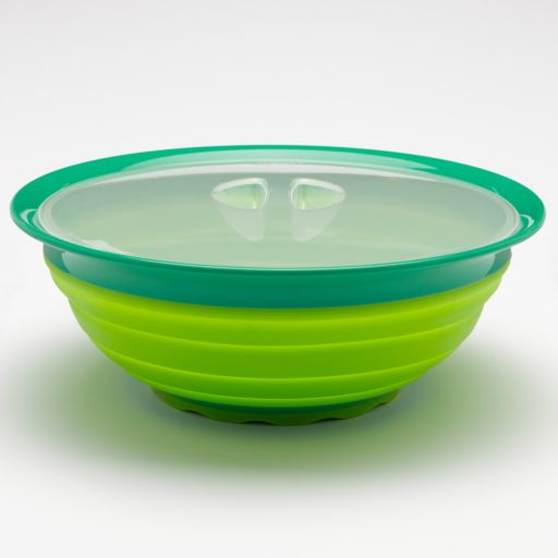 Squish 5-qt. Collapsible Covered Salad Bowl