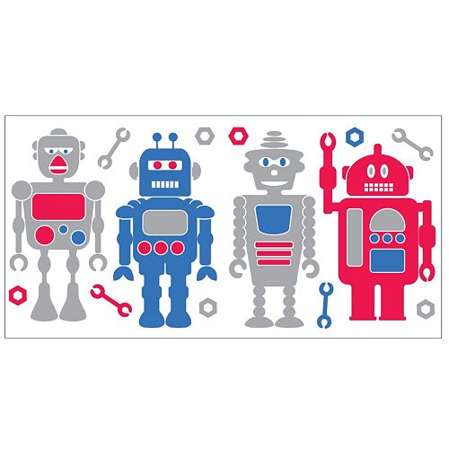 Robots Peel & Stick Wall Decals