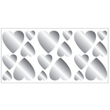 Hearts Foil Peel & Stick Wall Decals
