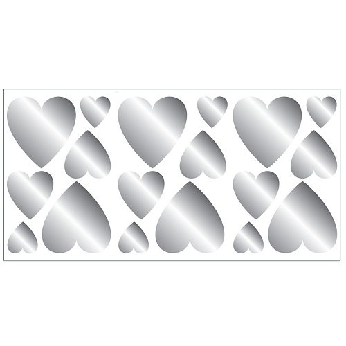 Hearts Foil Peel & Stick Wall Decals