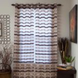 Portsmouth Home Sonya Striped Sheer 2-pack Window Curtains