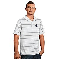 Men's Vancouver Canucks Deluxe Striped Desert Dry Xtra-Lite Performance Polo