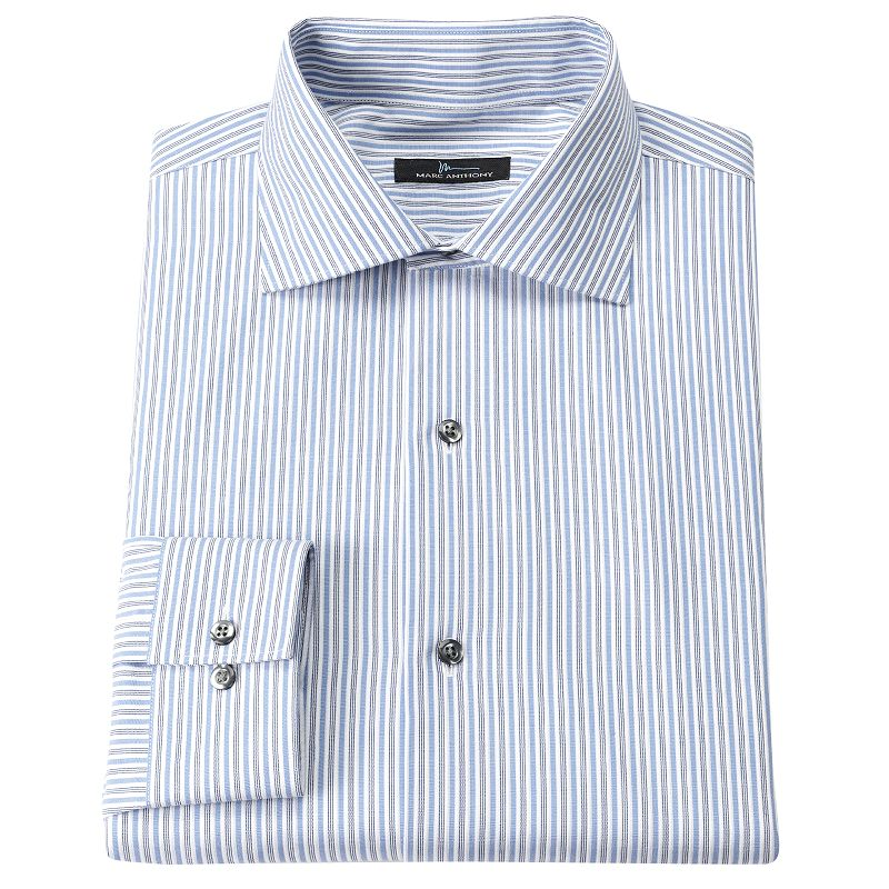 Cotton slim dress shirt kohl 39 s for Tony collar dress shirt