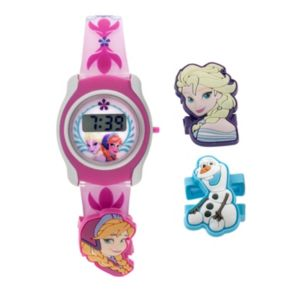 Disney Frozen Anna, Elsa and Olaf Kids' Digital Watch Set