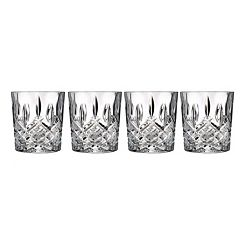 Marquis by Waterford Markham 4 pc Crystal Double Old-Fashioned Glass Set
