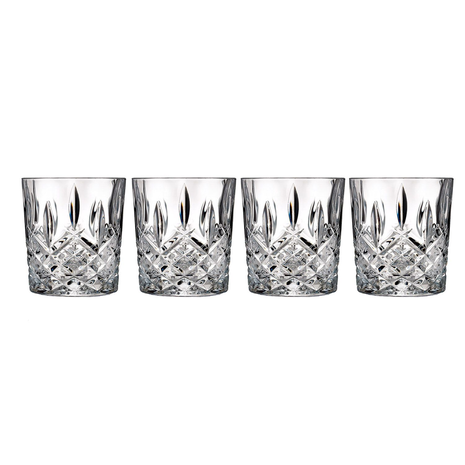 marquis by waterford markham 4pc crystal double glass set