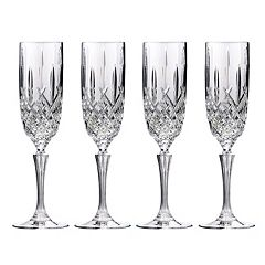 Marquis by Waterford Markham 4 pc Crystal Champagne Flute Set