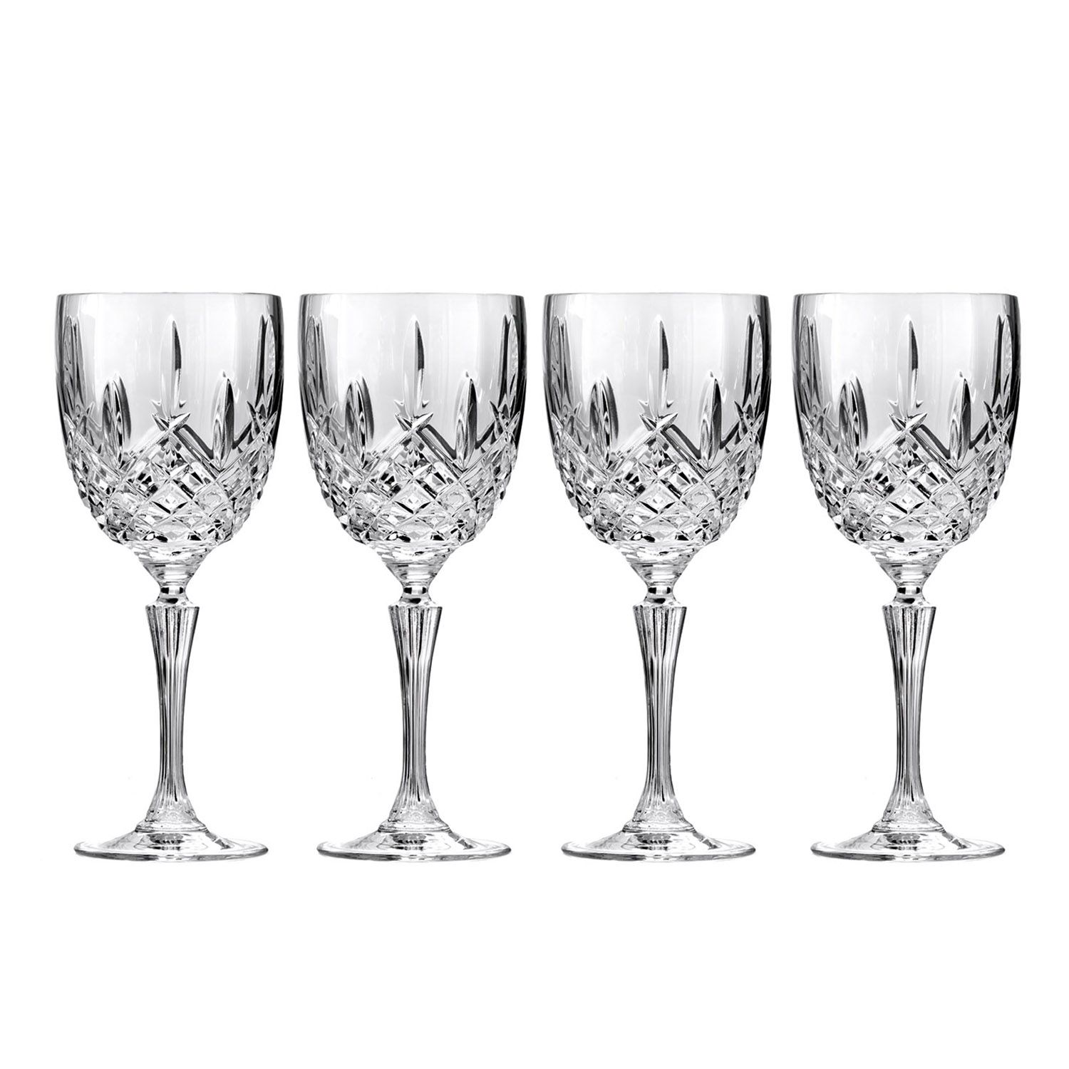 marquis by waterford markham 4pc allpurpose crystal wine goblet set - Waterford Crystal Wine Glasses