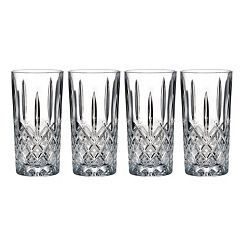 Marquis by Waterford Markham 4 pc Crystal Highball Glass Set