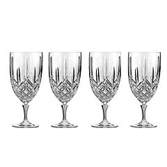 Marquis by Waterford Markham 4 pc Crystal Iced Beverage Glass Set