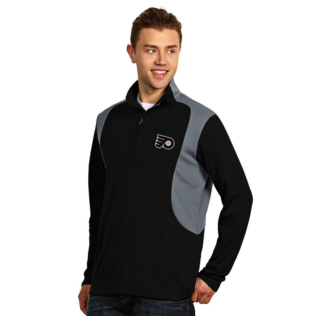 Antigua Philadelphia Flyers Delta 1/4-Zip Pullover - Men