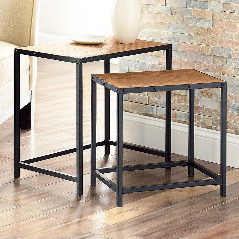 Clayton Coffee Table: Metal Table Set