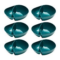 Zak Designs Moso 6-pc. Divided Bowl Set
