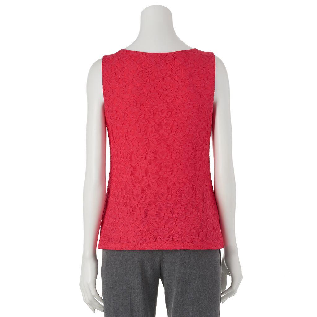 Dana Buchman Essential Lace Tank - Women's