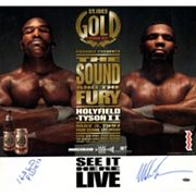 Steiner Sports Evander Holyfield and Mike Tyson Fight Rematch 21' x 22' Autographed Poster