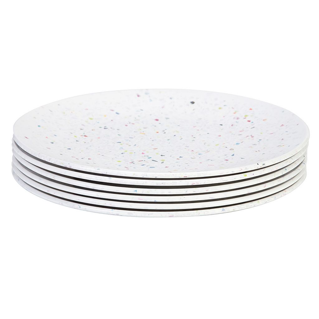 Zak Designs Confetti 6-pc. Melamine Dinner Plate Set