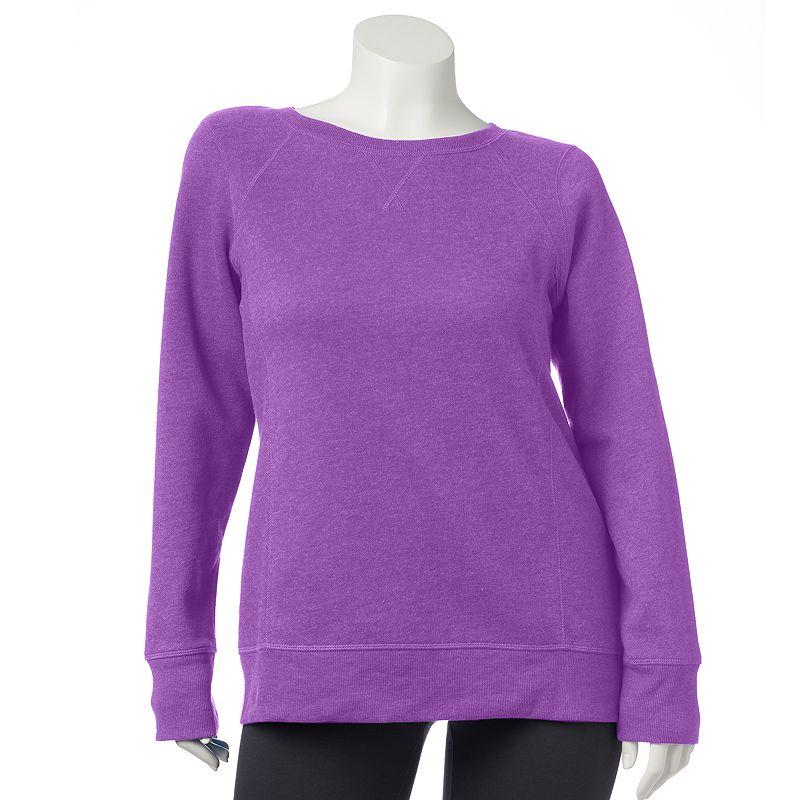 Women's Tek Gear Fleece Raglan Sweatshirt Plus Size