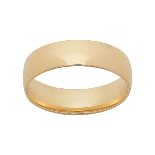 14k Gold Wedding Band - Men