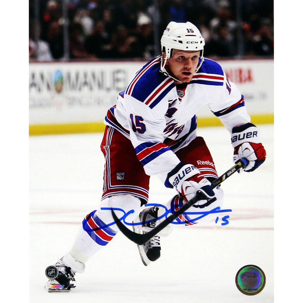 Steiner Sports New York Rangers Derek Dorsett White Jersey 8'' x 10'' Signed Photo
