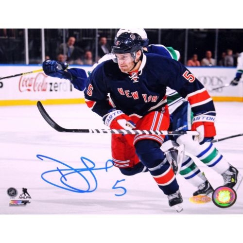 Steiner Sports New York Rangers Dan Girardi Blue Jersey 8'' x 10'' Signed Photo