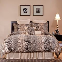 Pointehaven Urban Safari Duvet Cover Set