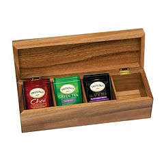 Lipper Acacia 4-Section Tea Box