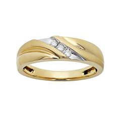 1/10 Carat T.W. 10k Gold Wedding Band - Men