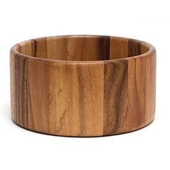 Lipper Acacia Straight Side Salad Bowl